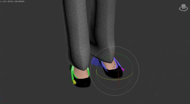 修改骨骼动画达到修改露出的脚丫的目的